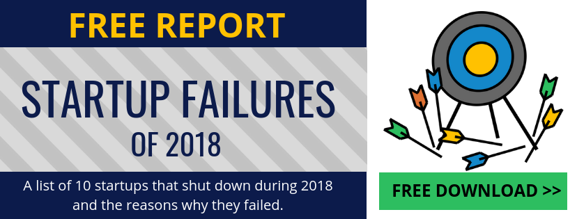 Startup Failures of 2018 free report linknovate